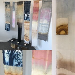 Hanging tea dyed cloths