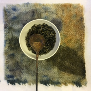 Tea and plant dyed Welsh wool cloth